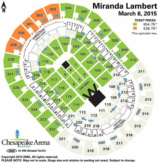 Chesapeake Energy Arena Seating Charts